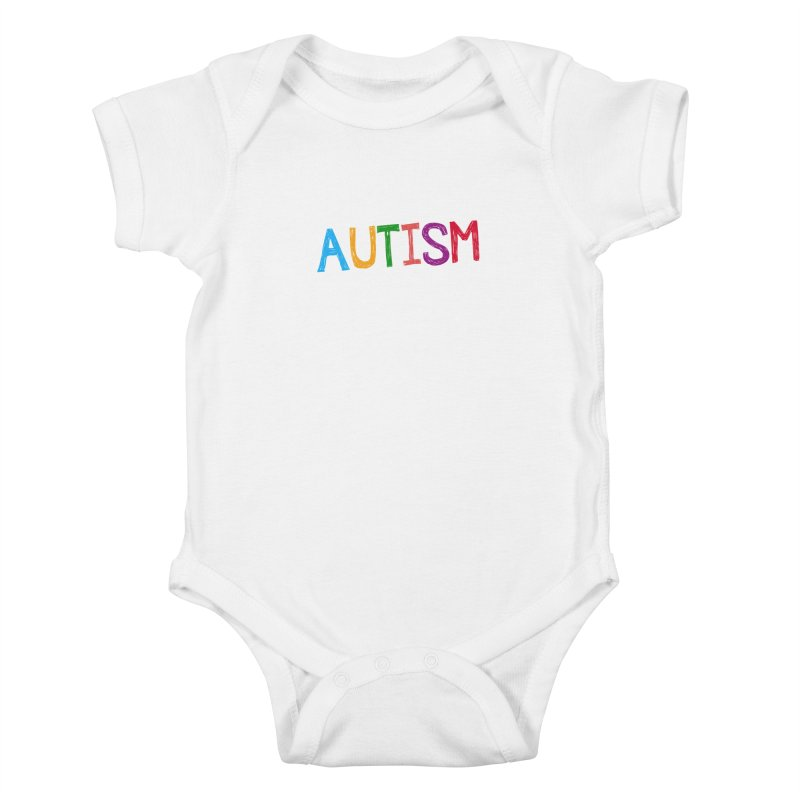 Marker Letters Kids Baby Bodysuit by Coachella Valley Autism Society of America