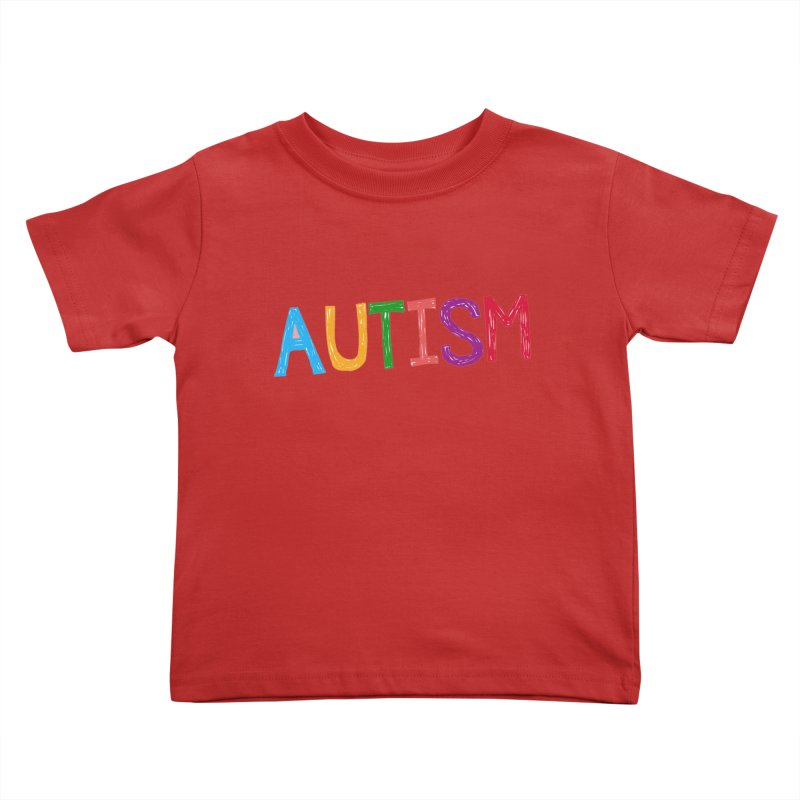 Marker Letters Kids Toddler T-Shirt by Coachella Valley Autism Society of America