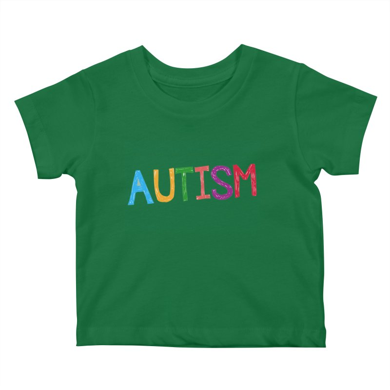 Marker Letters Kids Baby T-Shirt by Coachella Valley Autism Society of America