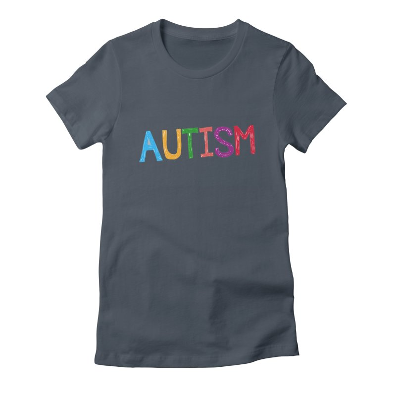 Marker Letters Women's T-Shirt by Coachella Valley Autism Society of America