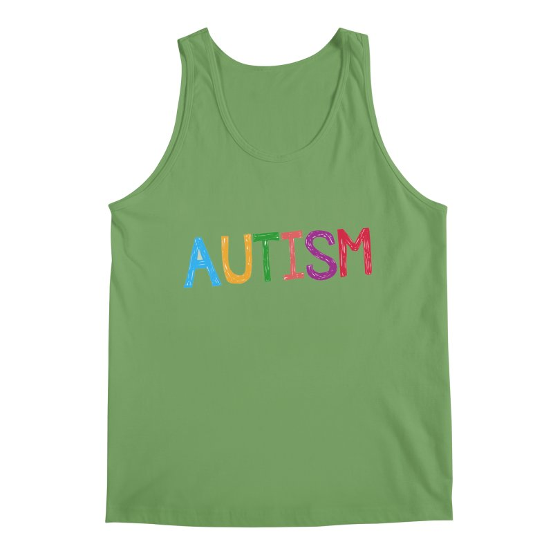 Marker Letters Men's Tank by Coachella Valley Autism Society of America