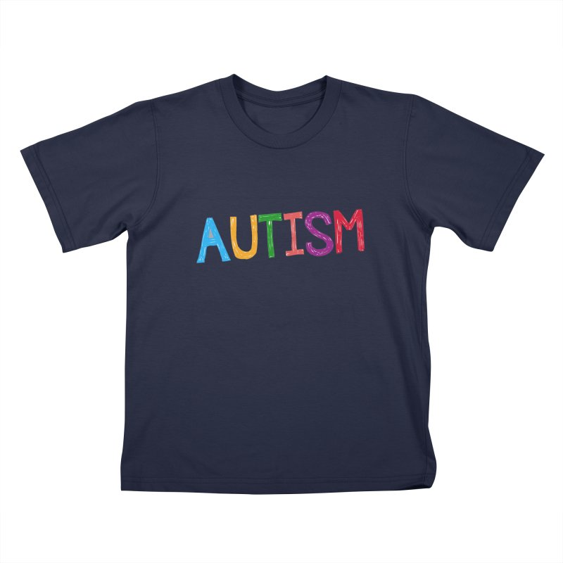 Marker Letters Kids T-Shirt by Coachella Valley Autism Society of America