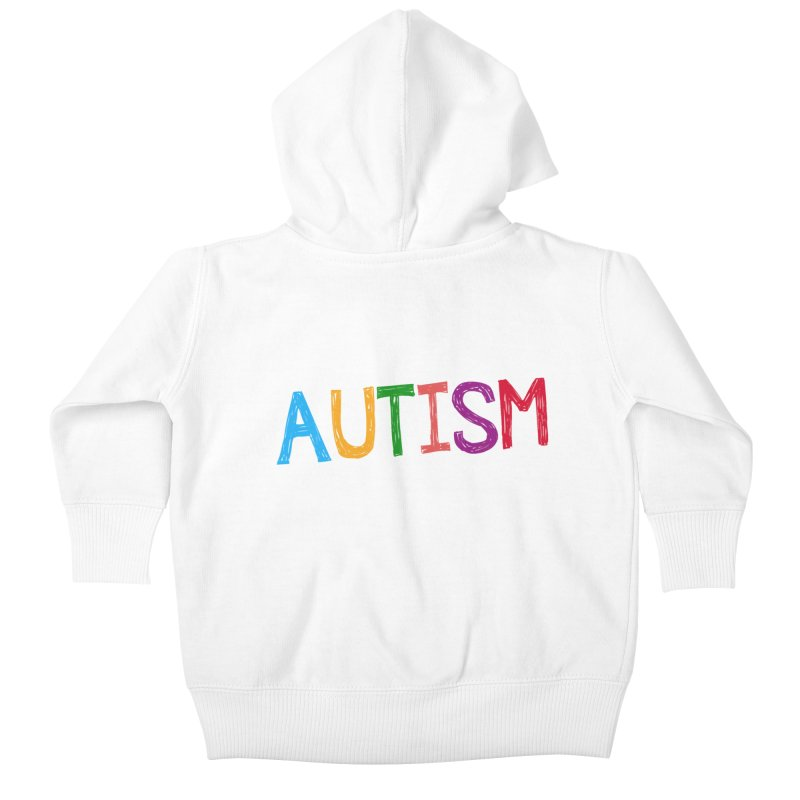 Marker Letters Kids Baby Zip-Up Hoody by Coachella Valley Autism Society of America