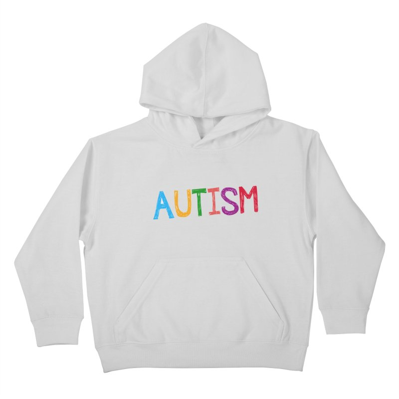 Marker Letters Kids Pullover Hoody by Coachella Valley Autism Society of America