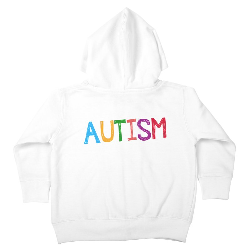 Marker Letters Kids Toddler Zip-Up Hoody by Coachella Valley Autism Society of America