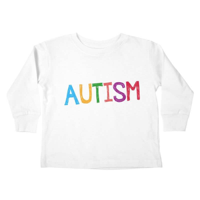 Marker Letters Kids Toddler Longsleeve T-Shirt by Coachella Valley Autism Society of America