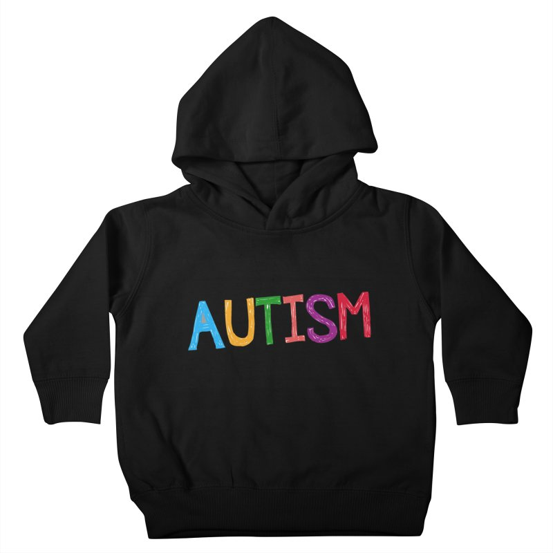 Marker Letters Kids Toddler Pullover Hoody by Coachella Valley Autism Society of America