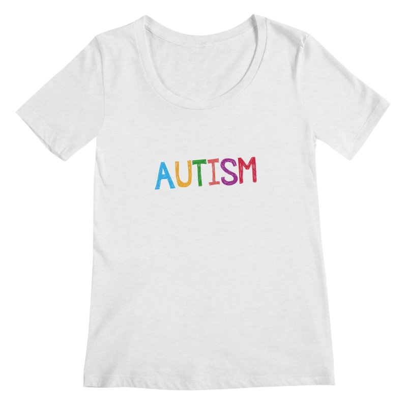 Marker Letters Women's Regular Scoop Neck by Coachella Valley Autism Society of America