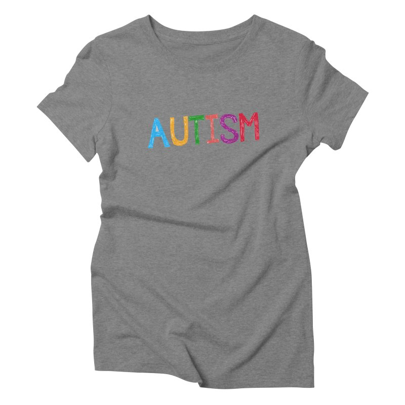 Marker Letters Women's Triblend T-Shirt by Coachella Valley Autism Society of America