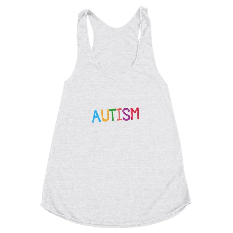 Marker Letters Women's Racerback Triblend Tank by Coachella Valley Autism Society of America