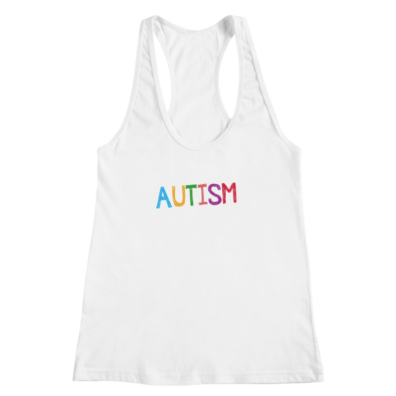 Marker Letters Women's Racerback Tank by Coachella Valley Autism Society of America