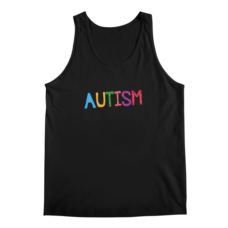 Marker Letters Men's Regular Tank by Coachella Valley Autism Society of America