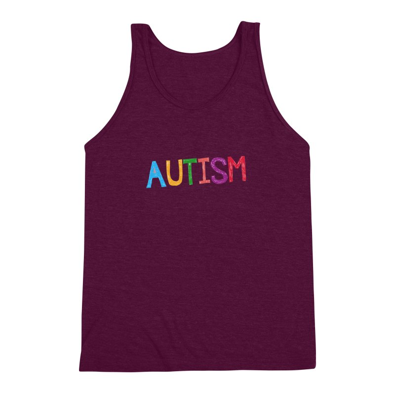 Marker Letters Men's Triblend Tank by Coachella Valley Autism Society of America