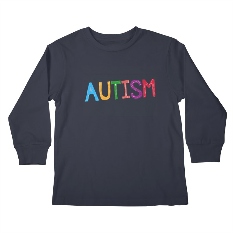 Marker Letters Kids Longsleeve T-Shirt by Coachella Valley Autism Society of America