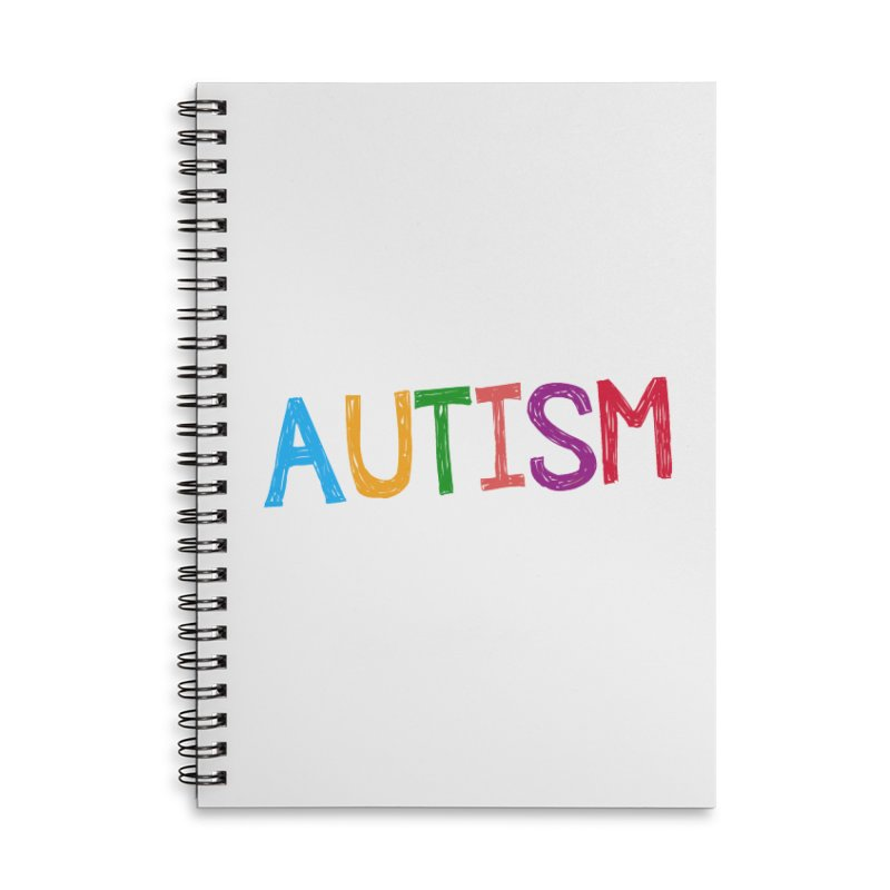 Marker Letters Accessories Lined Spiral Notebook by Coachella Valley Autism Society of America
