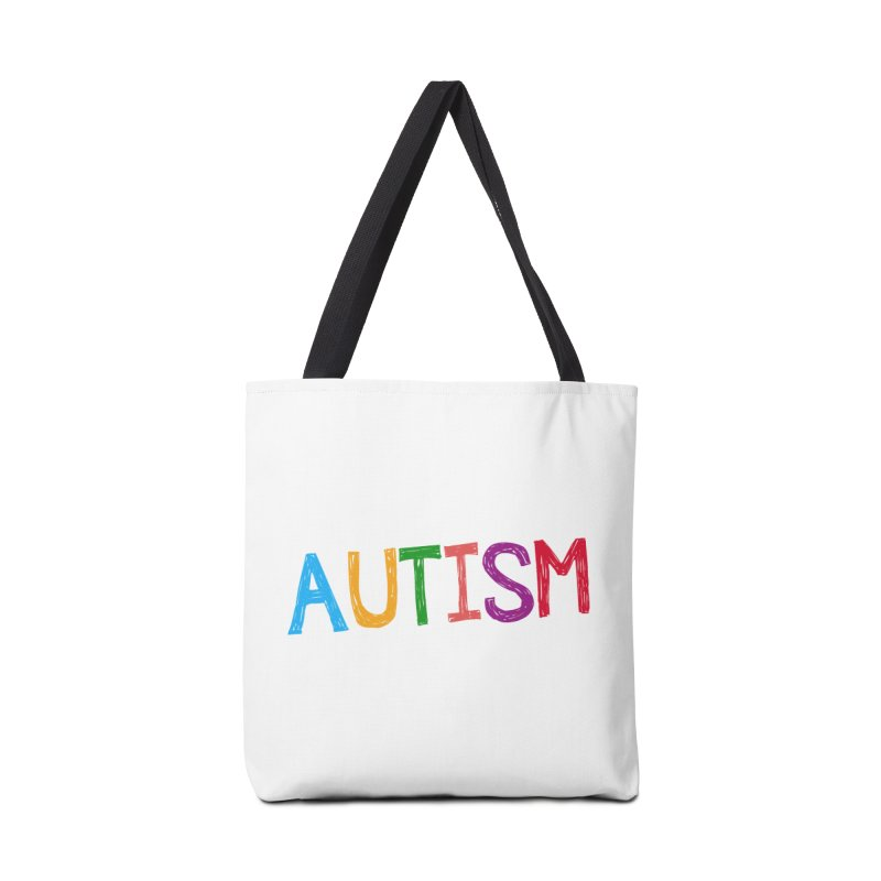 Marker Letters Accessories Tote Bag Bag by Coachella Valley Autism Society of America