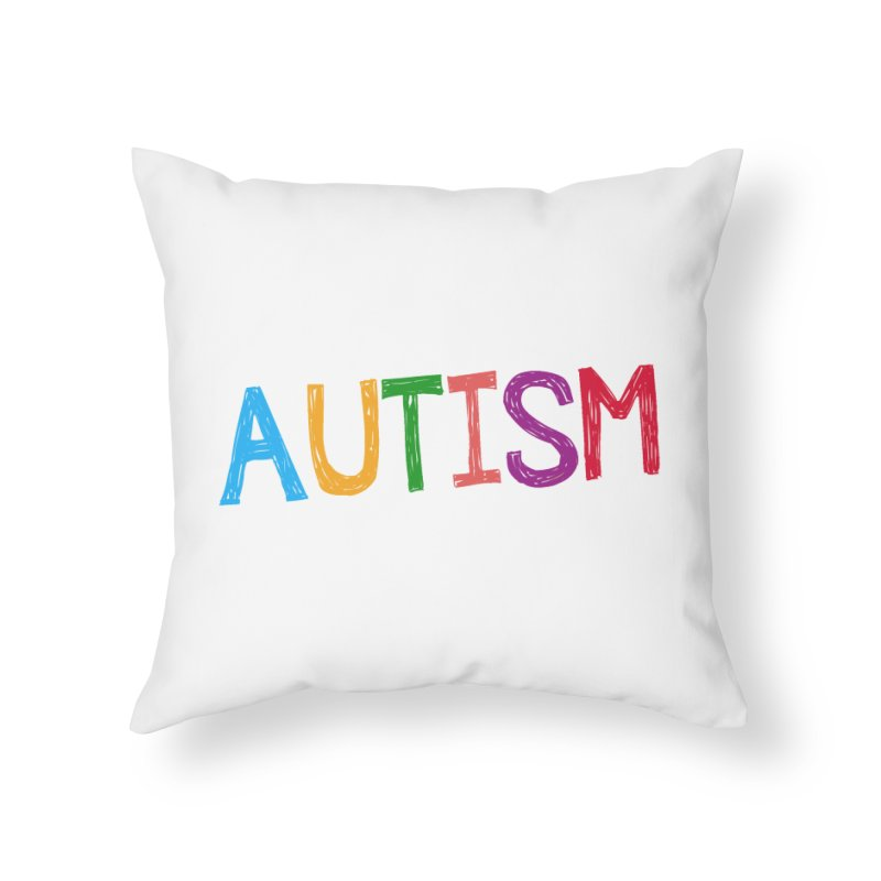 Marker Letters Home Throw Pillow by Coachella Valley Autism Society of America