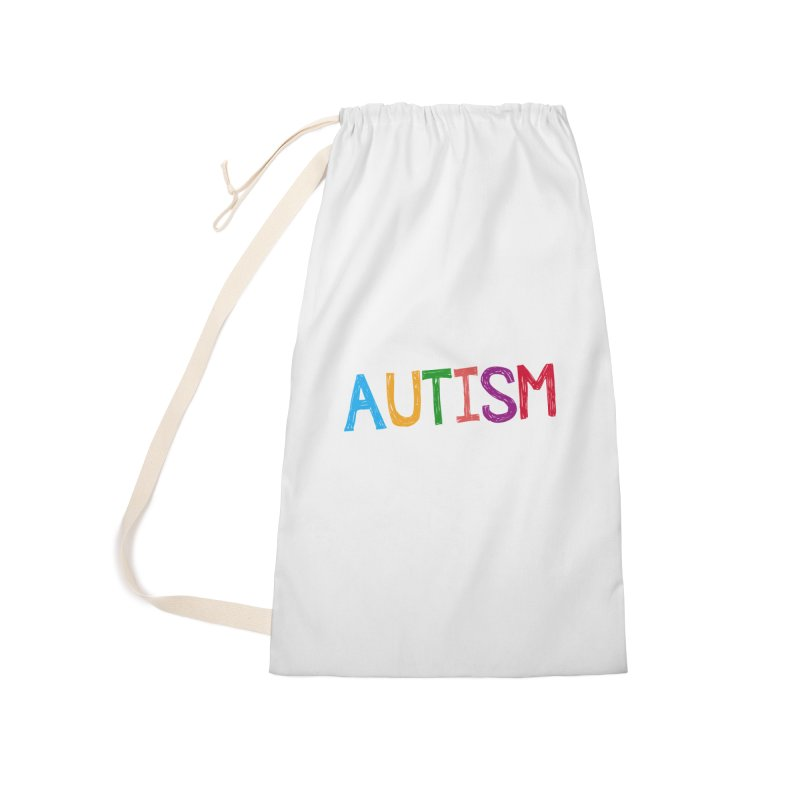 Marker Letters Accessories Laundry Bag Bag by Coachella Valley Autism Society of America