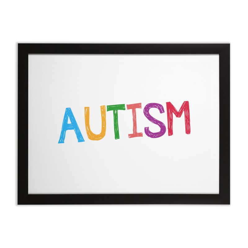 Marker Letters Home Framed Fine Art Print by Coachella Valley Autism Society of America