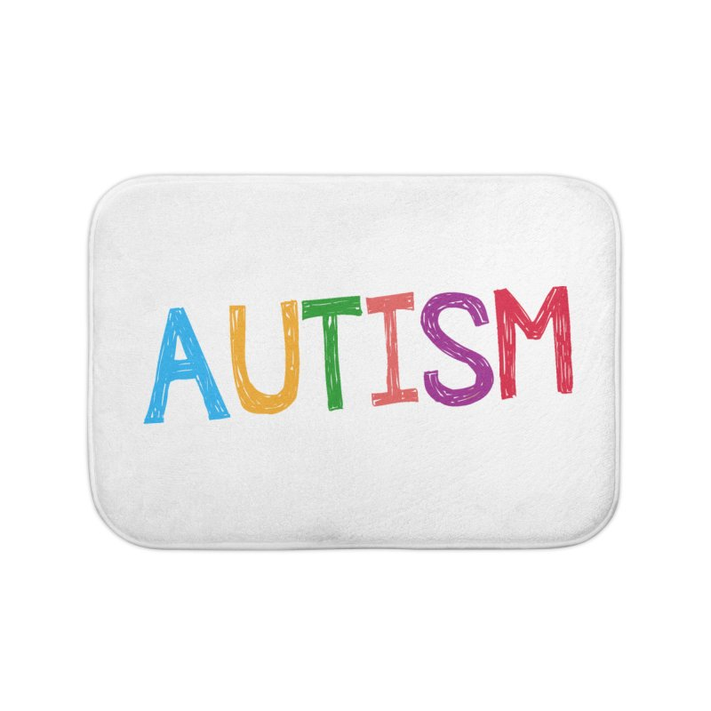Marker Letters Home Bath Mat by Coachella Valley Autism Society of America