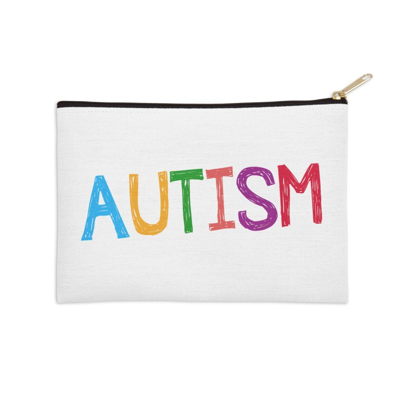 Marker Letters Accessories Zip Pouch by Coachella Valley Autism Society of America