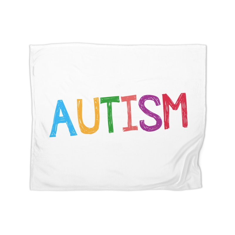 Marker Letters Home Fleece Blanket Blanket by Coachella Valley Autism Society of America