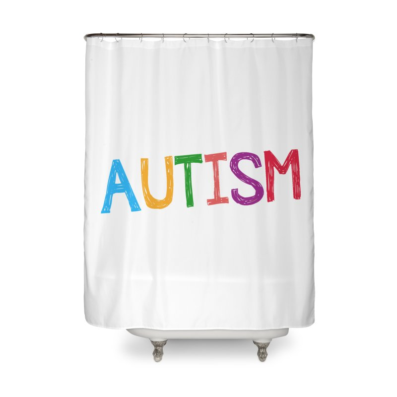Marker Letters Home Shower Curtain by Coachella Valley Autism Society of America