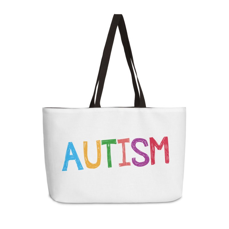 Marker Letters Accessories Weekender Bag Bag by Coachella Valley Autism Society of America