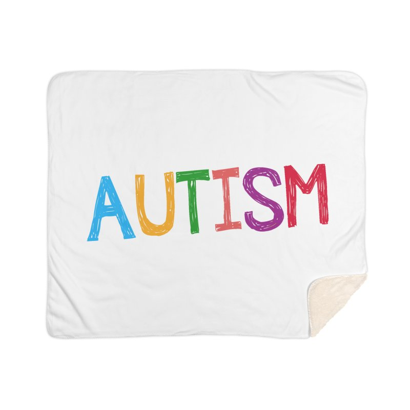 Marker Letters Home Sherpa Blanket Blanket by Coachella Valley Autism Society of America