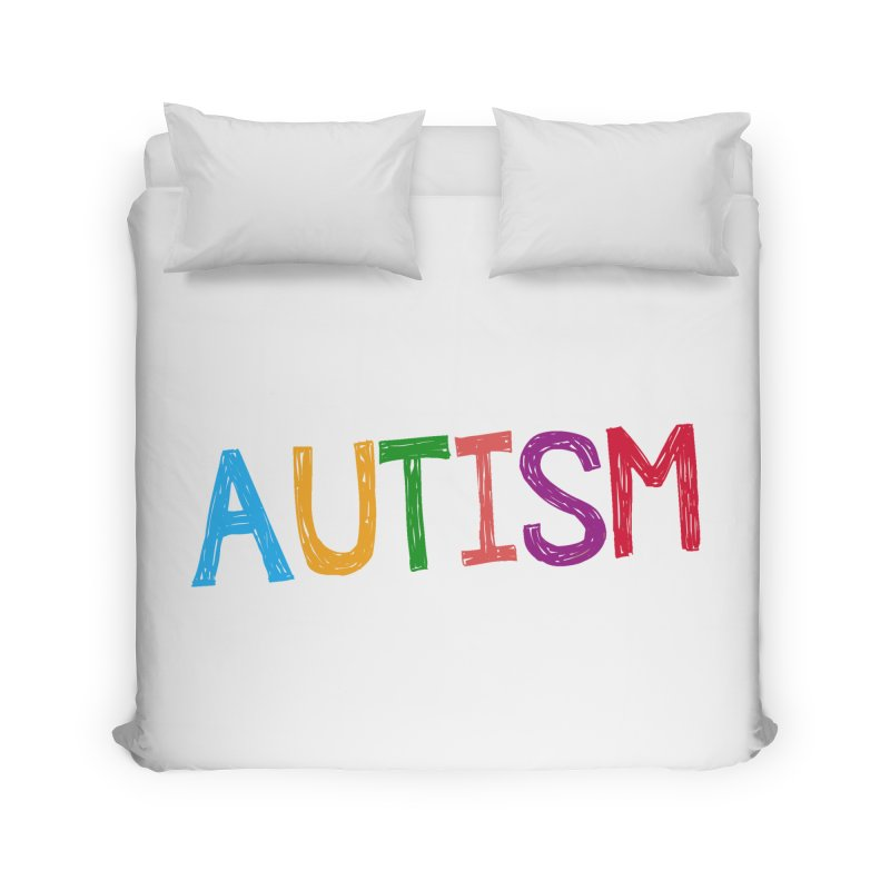 Marker Letters Home Duvet by Coachella Valley Autism Society of America