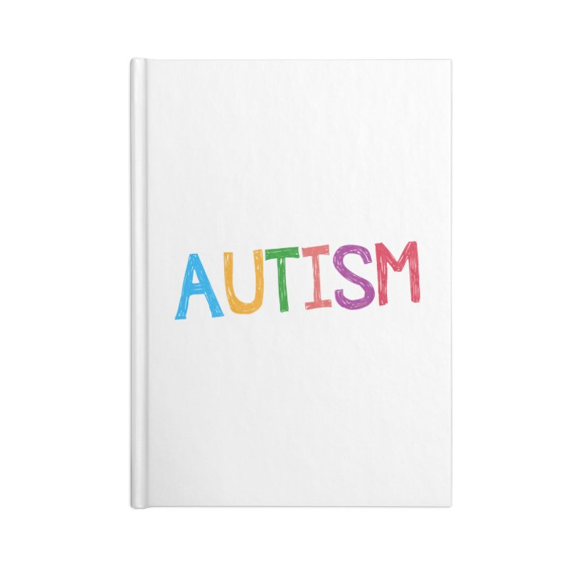 Marker Letters Accessories Blank Journal Notebook by Coachella Valley Autism Society of America