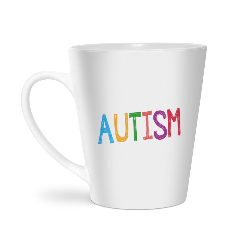 Marker Letters Accessories Latte Mug by Coachella Valley Autism Society of America
