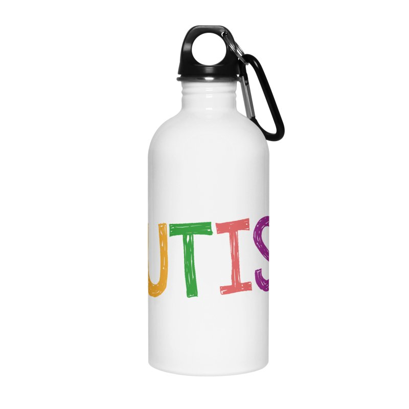 Marker Letters Accessories Water Bottle by Coachella Valley Autism Society of America