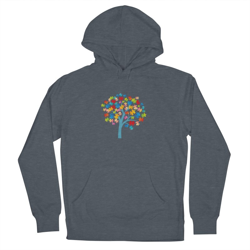 Puzzle Tree Men's French Terry Pullover Hoody by Coachella Valley Autism Society of America