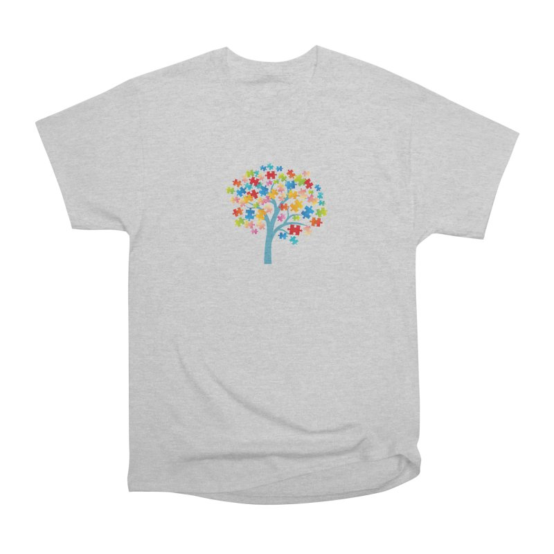 Puzzle Tree Women's Heavyweight Unisex T-Shirt by Coachella Valley Autism Society of America