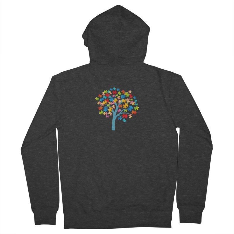 Puzzle Tree Men's French Terry Zip-Up Hoody by Coachella Valley Autism Society of America