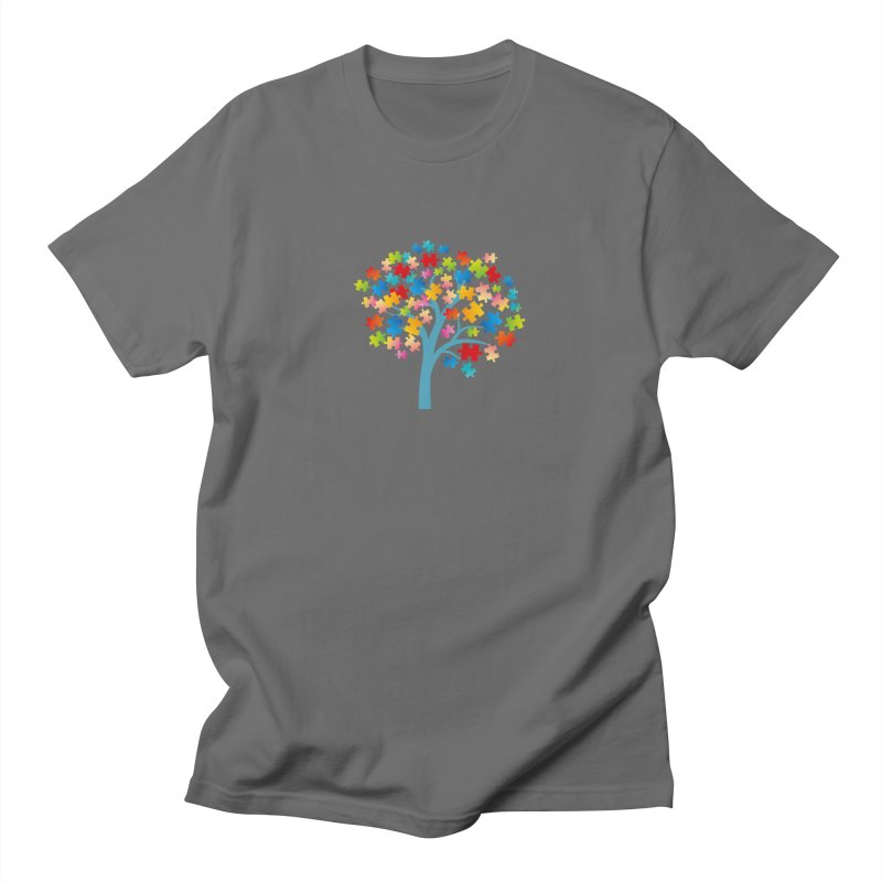Puzzle Tree Men's T-Shirt by Coachella Valley Autism Society of America