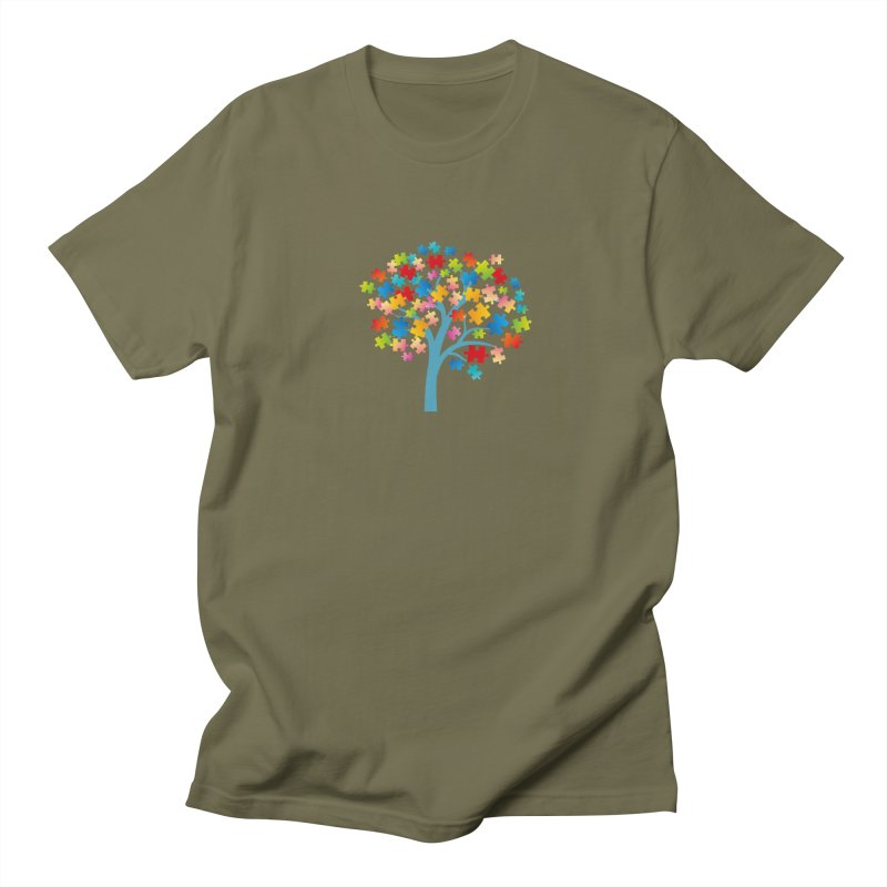 Puzzle Tree Men's Regular T-Shirt by Coachella Valley Autism Society of America