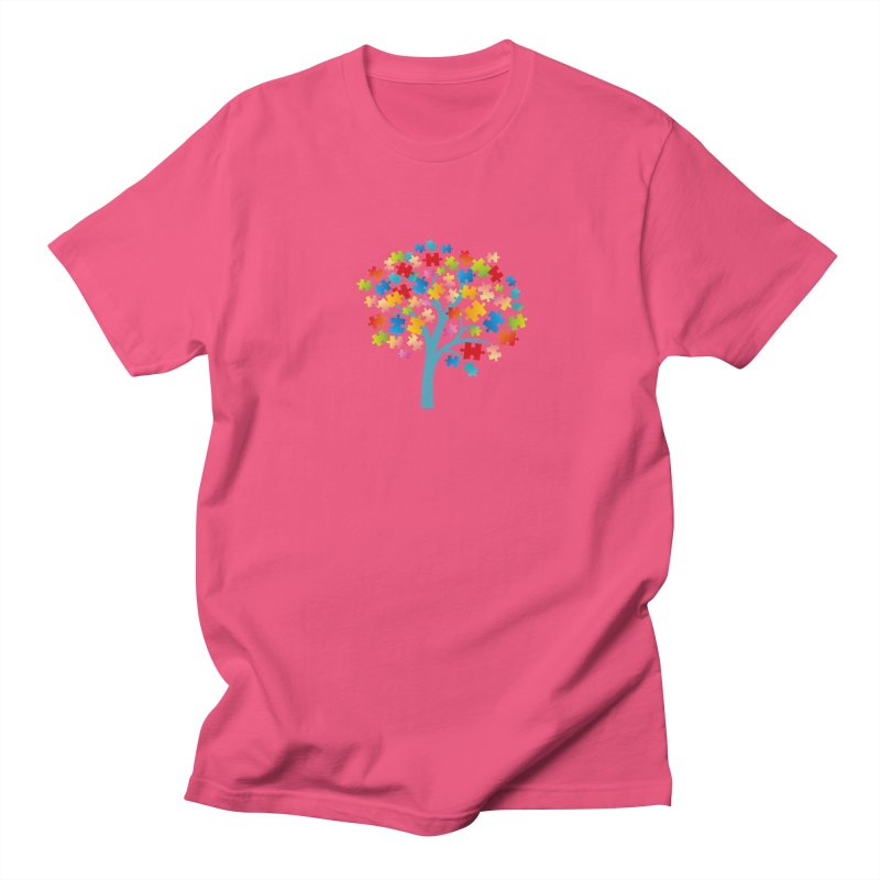 Puzzle Tree Women's Regular Unisex T-Shirt by Coachella Valley Autism Society of America