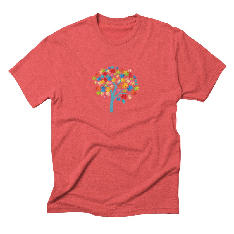 Puzzle Tree Men's Triblend T-Shirt by Coachella Valley Autism Society of America