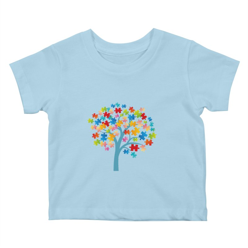Puzzle Tree Kids Baby T-Shirt by Coachella Valley Autism Society of America