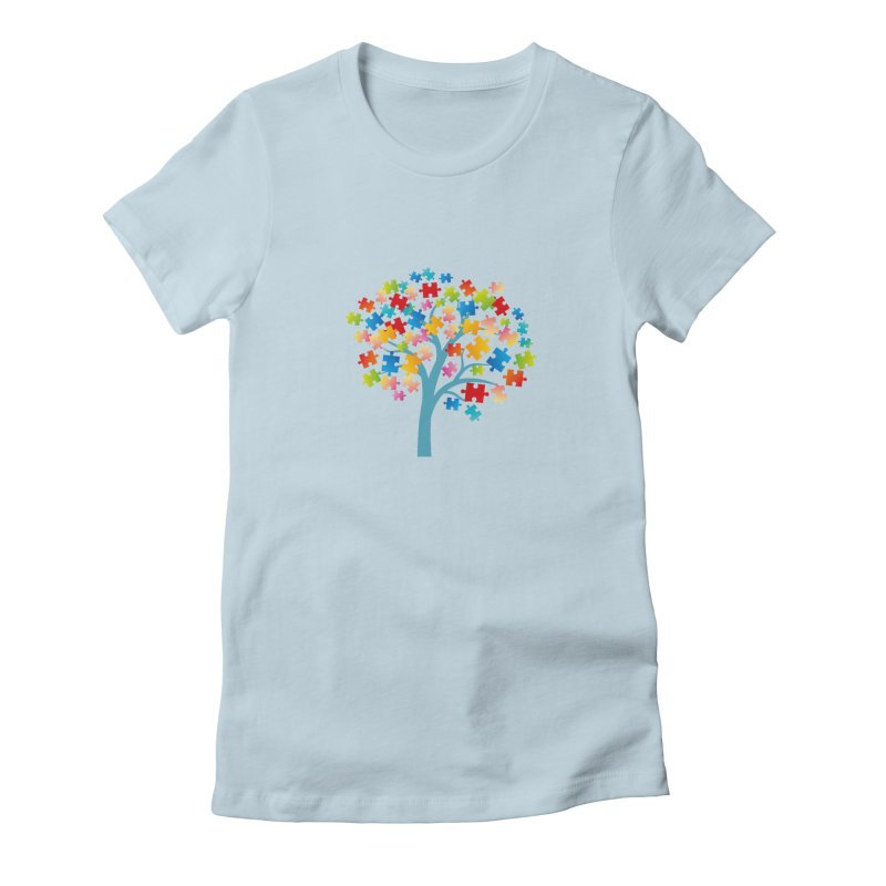 Puzzle Tree Women's T-Shirt by Coachella Valley Autism Society of America