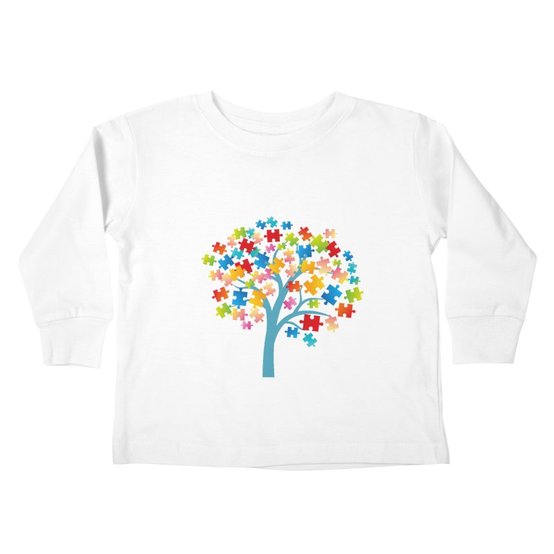 Puzzle Tree Kids Toddler Longsleeve T-Shirt by Coachella Valley Autism Society of America