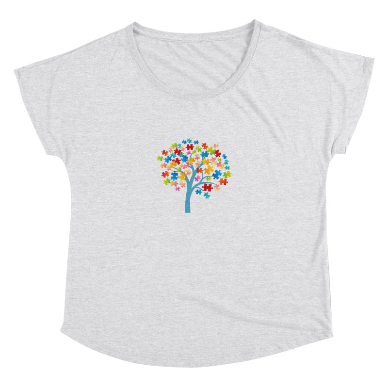 Puzzle Tree Women's Dolman Scoop Neck by Coachella Valley Autism Society of America