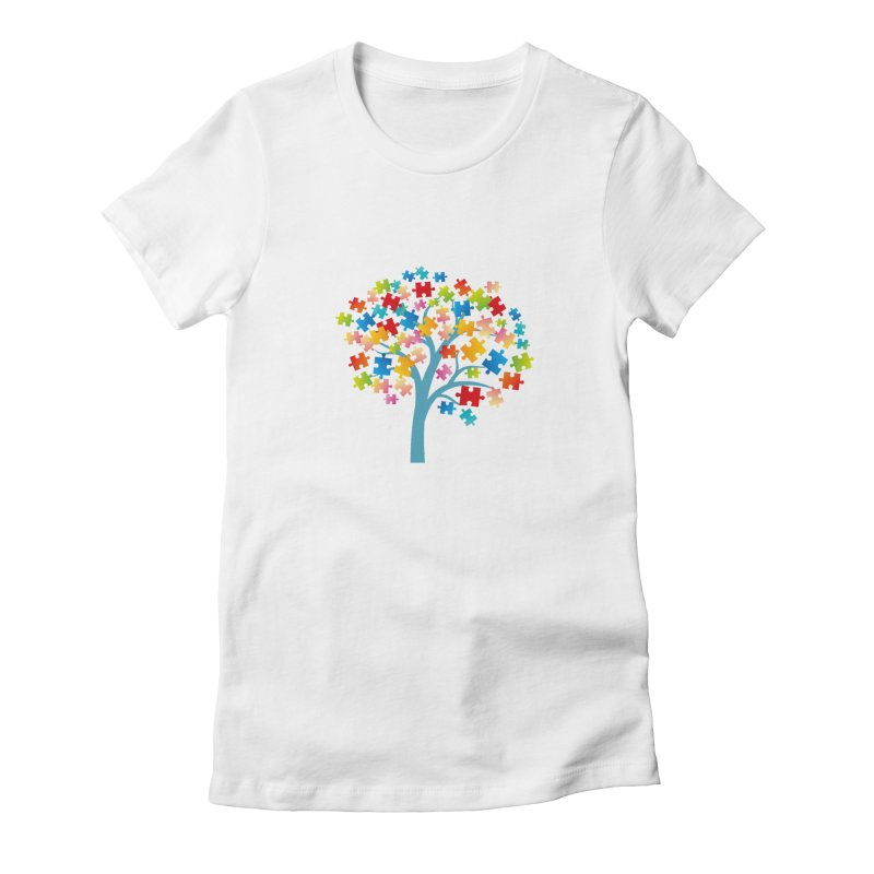 Puzzle Tree Women's Fitted T-Shirt by Coachella Valley Autism Society of America
