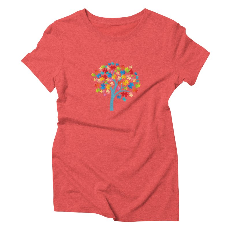 Puzzle Tree Women's Triblend T-Shirt by Coachella Valley Autism Society of America
