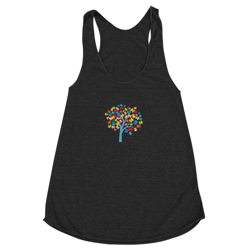 Puzzle Tree Women's Racerback Triblend Tank by Coachella Valley Autism Society of America