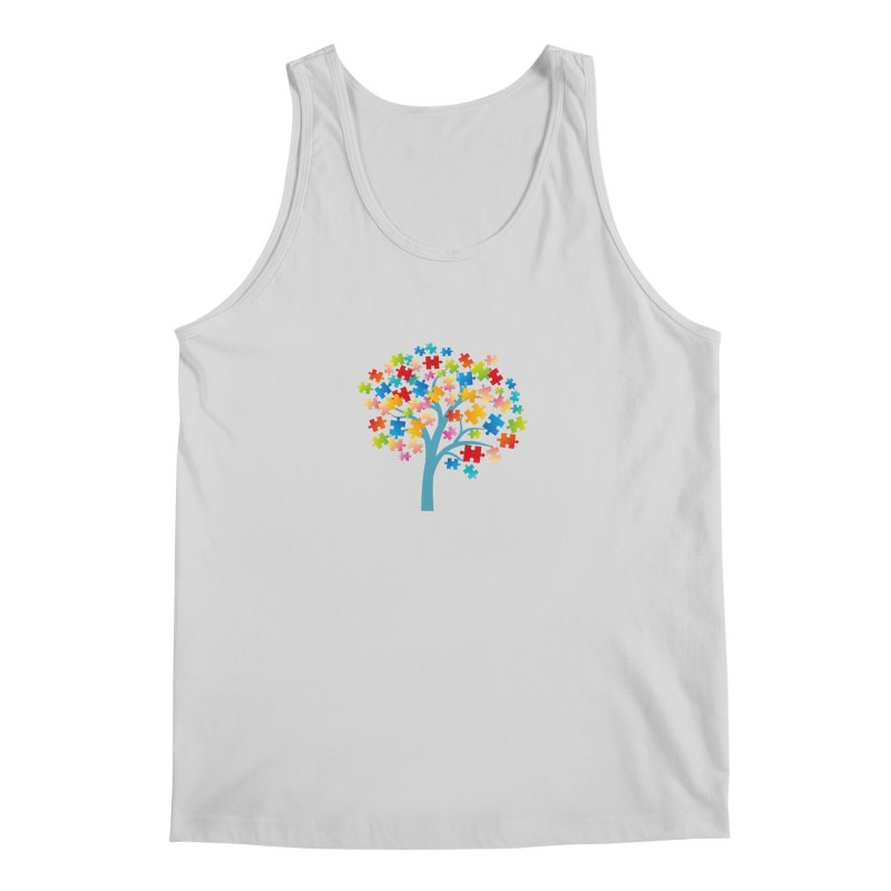 Puzzle Tree Men's Regular Tank by Coachella Valley Autism Society of America