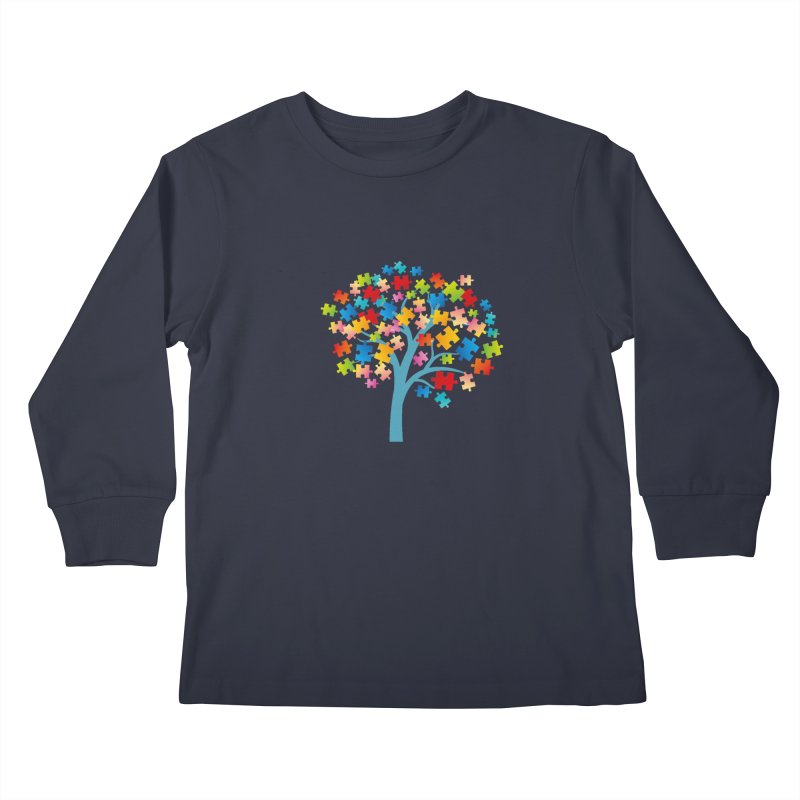 Puzzle Tree Kids Longsleeve T-Shirt by Coachella Valley Autism Society of America