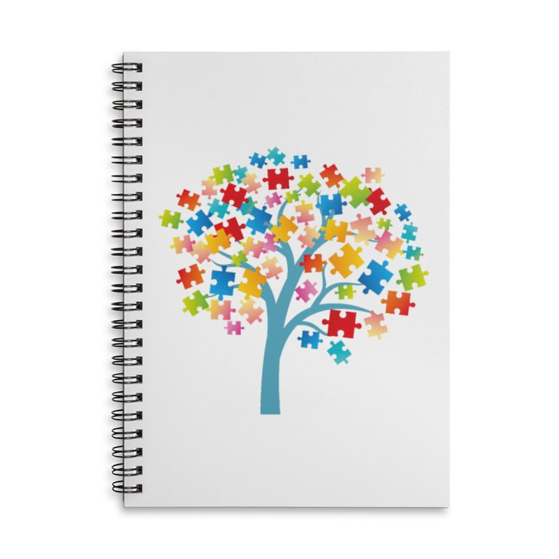 Puzzle Tree Accessories Lined Spiral Notebook by Coachella Valley Autism Society of America